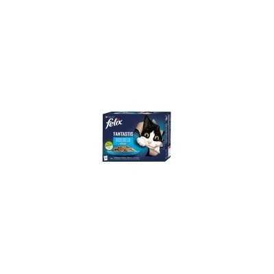 FELIX Fantastic kapsička 12x85g losos/platýs/tuňa/treska v želé