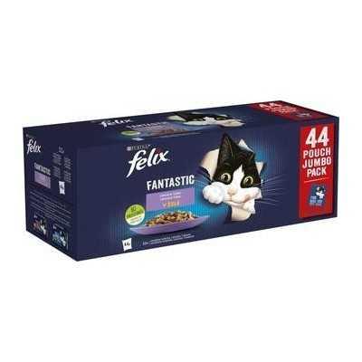 FELIX Fantastic kapsička 44x85g- kuře, hovězí, losos, tuňák v želé